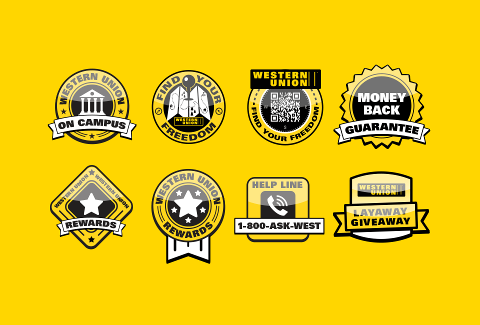 Western Union Badges